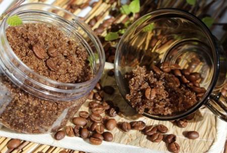 Скраб для ног из кофе