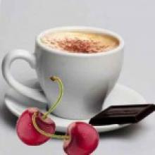 Черный кофе с шоколадом и вишневым соком